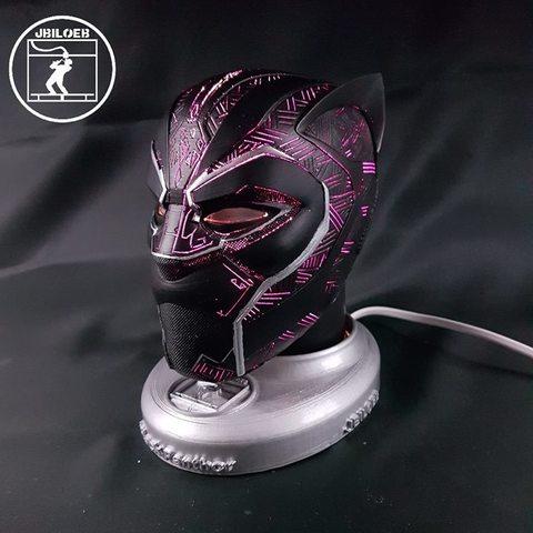 3D printing model Black Panther mask, JBILOEB