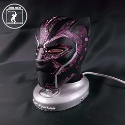 3D printing model Black Panther mask, JBILOEB