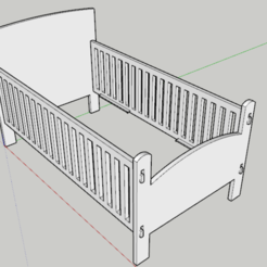 Download free STL file Children's bed • Template to 3D print, Haulier