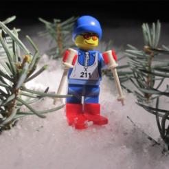 Free Lego Skis STL file, dis_fun_ctional_designs