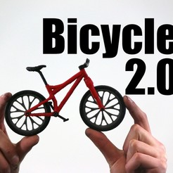 Free stl files Bicycle 2.0, dis_fun_ctional_designs
