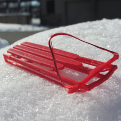 Free stl Little Red Sled, dis_fun_ctional_designs