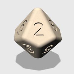 Modelos 3D gratis dado de 10 caras, d10, decaedro, Sebho