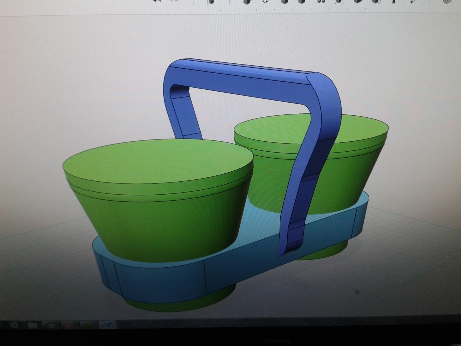 20160703_174001.jpg Download free STL file Holder for two espresso coffee mug • 3D printable design, prusai33