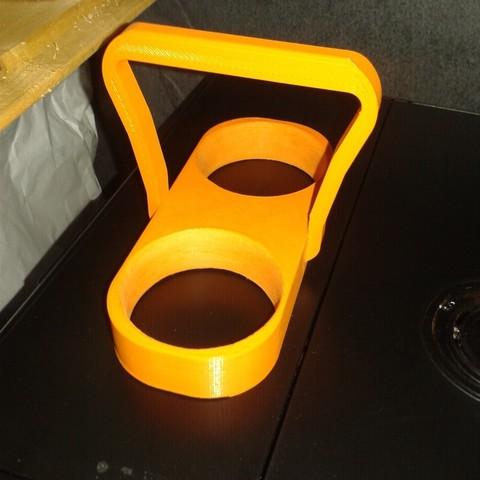 fichier imprimante 3d gratuit support pour deux tasse a caf expresso cults. Black Bedroom Furniture Sets. Home Design Ideas