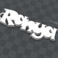 Télécharger fichier imprimante 3D gratuit porte clef personnalisable  ranya, Ibarakel