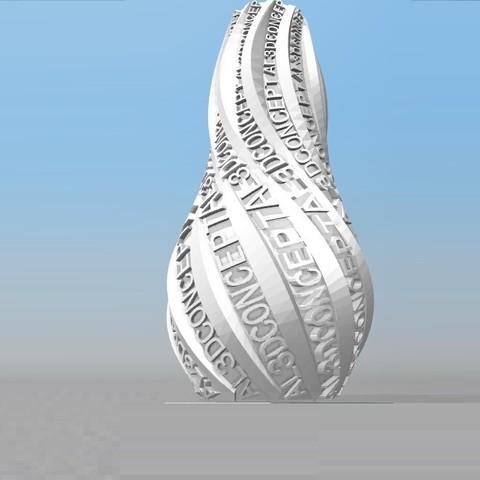 Download STL file IBARAKEL AL3DCONCEPT PERSONALIZABLE VASE • 3D print design, Ibarakel