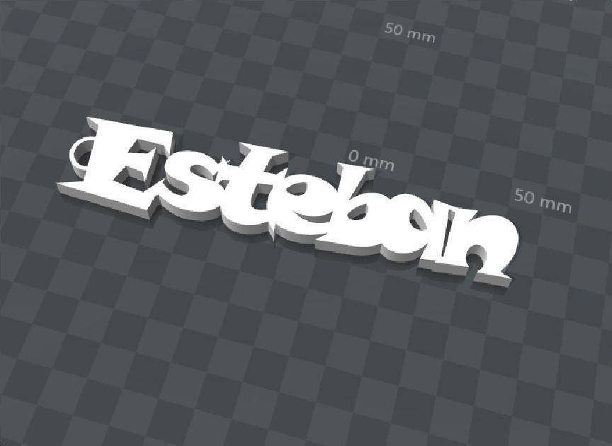 image.jpg Télécharger fichier STL gratuit PORTE-CLEF PERSONNALISABLE ESTEBAN • Design pour imprimante 3D, Ibarakel