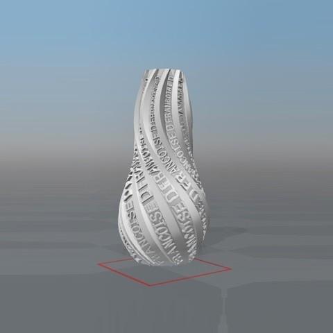 Download STL file PERSONALIZABLE VASE IBARAKEL Françoise D • 3D printer design, Ibarakel