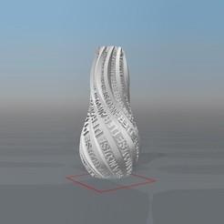 image.jpg Télécharger fichier STL VASE PERSONALISABLE IBARAKEL Françoise D • Modèle à imprimer en 3D, Ibarakel