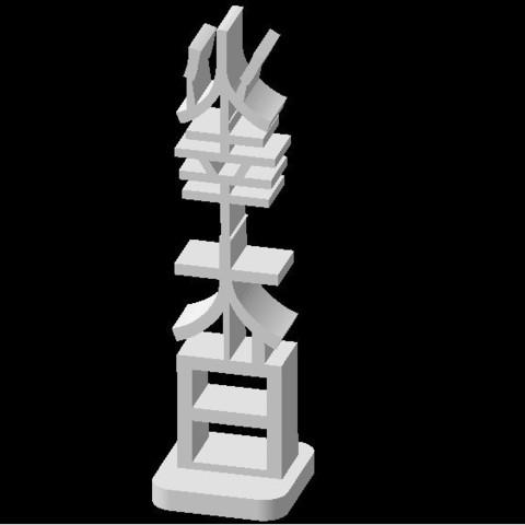 Download STL file TOTEM PORTE BONHEUR CHINOIS 75 • Object to 3D print, Ibarakel