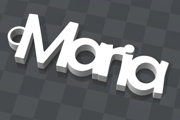 maria.png Download free STL file PERSONALIZABLE KEY HOLDER Maria • 3D printer object, Ibarakel
