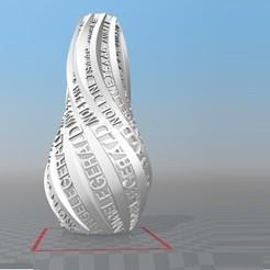 image.jpg Download STL file IBARAKEL ANGELE GERALD NOELINE ISAAC CUSTOMIZABLE VASE • Template to 3D print, Ibarakel