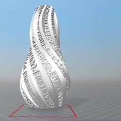 Download 3D printing models PERSONALIZABLE VASE IBARAKEL CORALIE DEPOORTER, Ibarakel