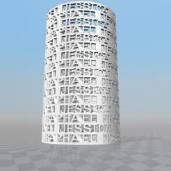 PORTE-CRAYON PERSONNALISABLE NATHAN  RAPHAËL  JESSICA  VINCENT 3D model, Ibarakel