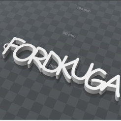 Free 3D printer designs FORDKUGA PERSONALIZABLE KEY RING, Ibarakel