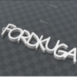 inage.png Download free STL file FORDKUGA PERSONALIZABLE KEY RING • Object to 3D print, Ibarakel