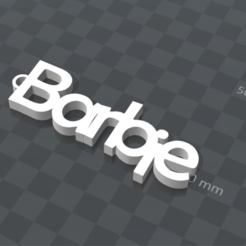 Free 3d print files PERSONALIZABLE KEYCHAIN ​​Barbie, Ibarakel