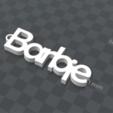 image.png Download free STL file PERSONALIZABLE KEYCHAIN Barbie • 3D print template, Ibarakel