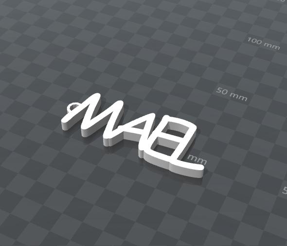inage.png Télécharger fichier STL gratuit PORTE-CLEF PERSONALISABLE MAEL • Design pour impression 3D, Ibarakel