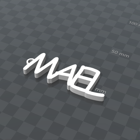 Free 3d print files MAEL PERSONALIZABLE KEYCHAIN, Ibarakel