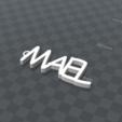 Télécharger plan imprimante 3D gatuit PORTE-CLEF PERSONALISABLE MAEL, Ibarakel