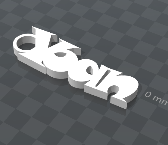 image.png Download free STL file YOAN CUSTOMIZABLE KEYCHAIN • 3D printing object, Ibarakel