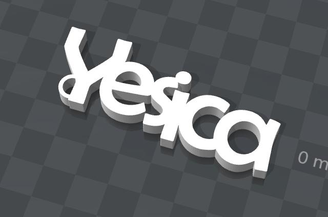 yesica.png Download free STL file CUSTOM KEY HOLDER • 3D printable object, Ibarakel