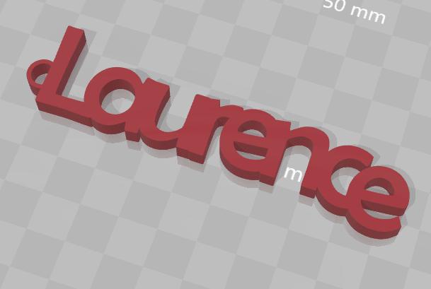 Sans titre.png Download free STL file CUSTOM KEY HOLDER Laurence • 3D print design, Ibarakel