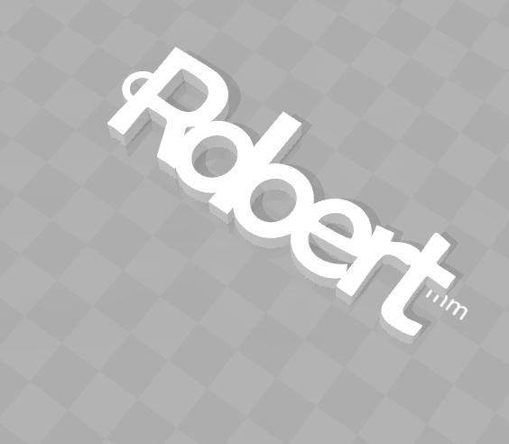 Sans titre.png Télécharger fichier STL gratuit PORTE-CLEF PERSONNALISABLE ROBERT • Modèle pour imprimante 3D, Ibarakel