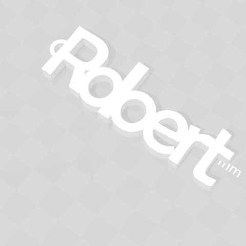 Free 3D printer designs CUSTOMIZABLE KEY HOLDER ROBERT, Ibarakel