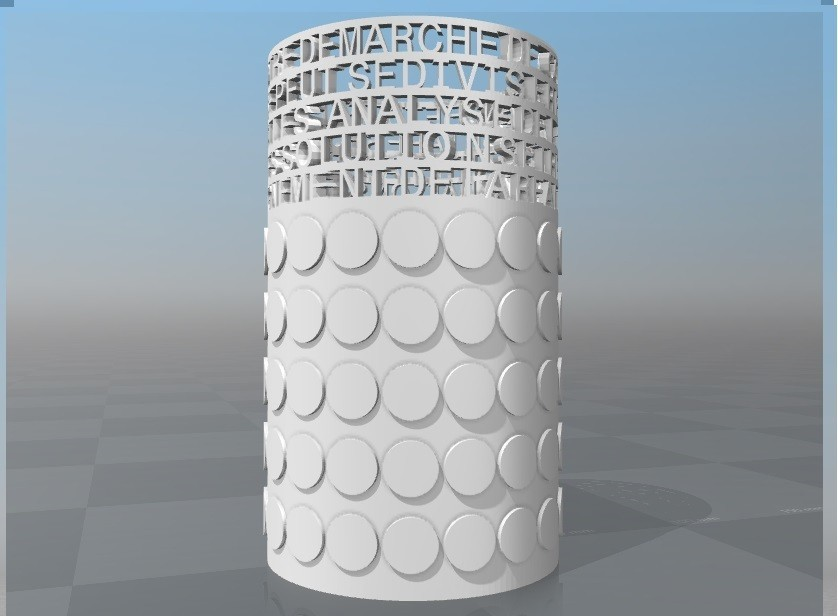 image.jpg Download STL file PERSONALIZABLE PENCIL HOLDER IBARAKEL • 3D printing design, Ibarakel