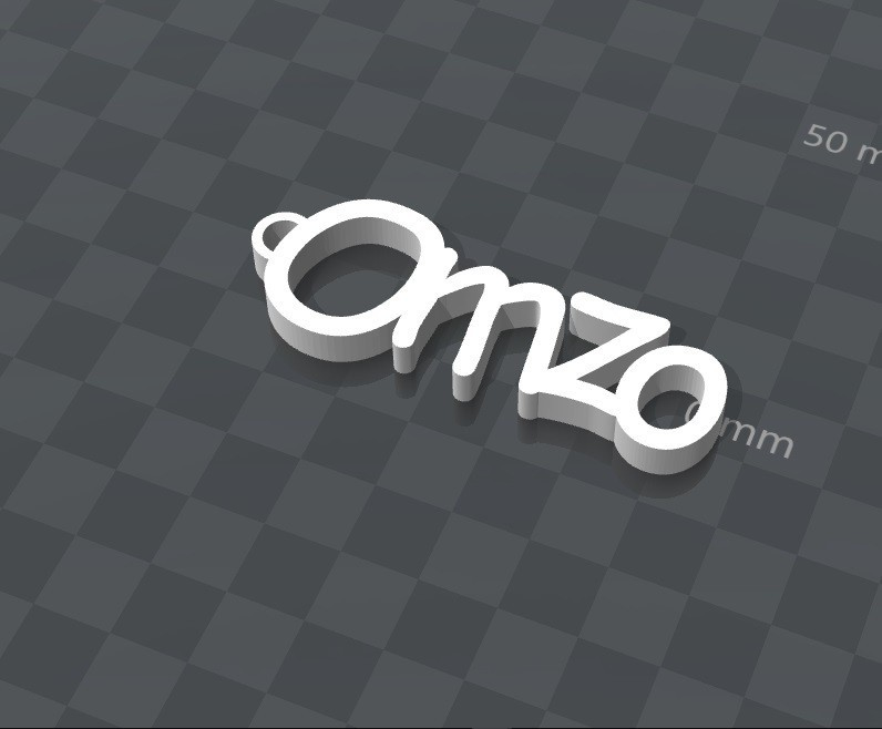 image.jpg Download free STL file PERSONALIZABLE KEYCHAIN ​​omzo • 3D printing model, Ibarakel