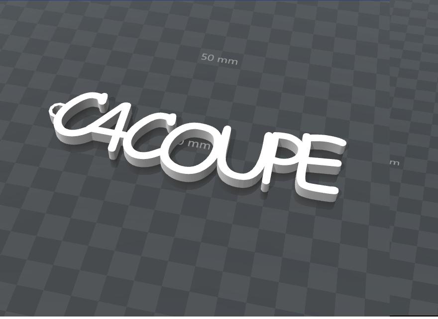 inage.png Télécharger fichier STL gratuit PORTE-CLEF PERSONALISABLE C4COUPE • Plan pour impression 3D, Ibarakel