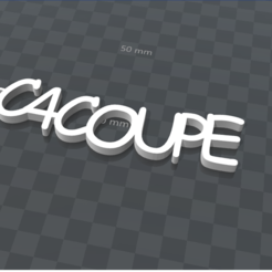Download free 3D printing templates PERSONALIZABLE KEYCHAIN ​​C4COUPE, Ibarakel
