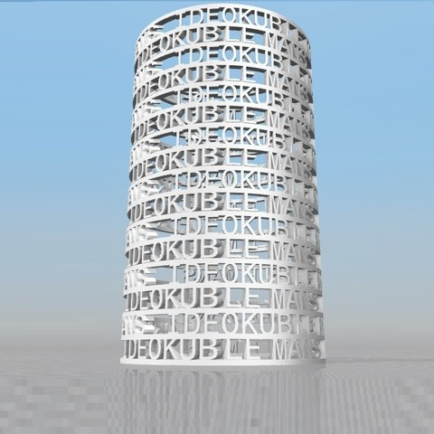 Download STL file IDEOKUB LE MANS-1 PERSONALIZABLE PENCIL • Object to 3D print, Ibarakel