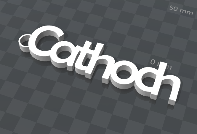 cathoch.png Download free STL file CUSTOMIZABLE KEY HOLDER CATHOCH • 3D print object, Ibarakel