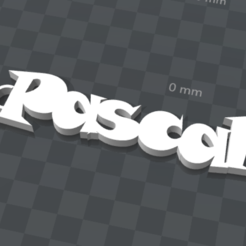 Free 3d print files PERSONALIZABLE KEY HOLDER Pascal, Ibarakel