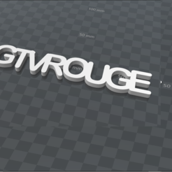 Download free 3D printing templates GTVROUGE PERSONALIZABLE KEY CHAIN, Ibarakel
