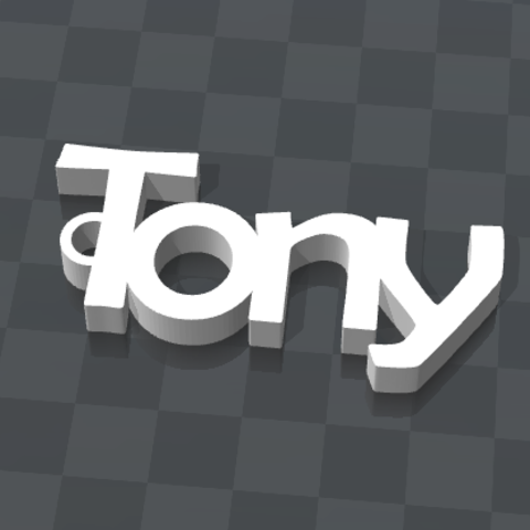 Free CUSTOM KEY HOLDER Tony 3D printer file, Ibarakel