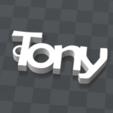 tony.png Télécharger fichier STL gratuit PORTE-CLEF PERSONNALISABLE Tony • Objet pour imprimante 3D, Ibarakel