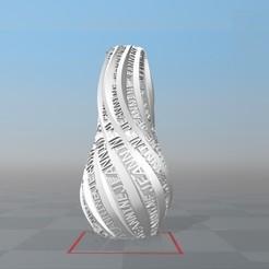 image.jpg Download STL file IBARAKEL JEANNINE PERSONALIZABLE VASE • 3D print design, Ibarakel