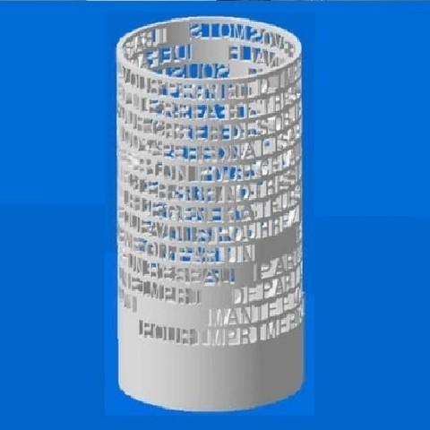 Download free STL file PERSONALIZABLE PENCIL • 3D printer design, Ibarakel