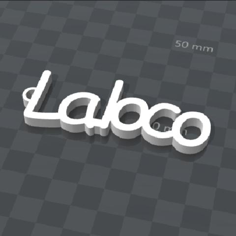 Download free 3D printer templates customizable key ring LA LOCO, Ibarakel