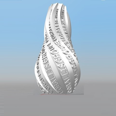 Download STL file IBARAKEL CORALLIS GROUP PERSONALIZABLE VASE • 3D printer template, Ibarakel