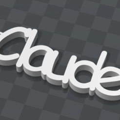 Free 3D printer files CLAUDE CUSTOMIZABLE KEYCHAIN, Ibarakel