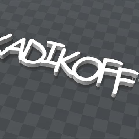 Free customizable key holder KADIKOFF 3D printer file, Ibarakel