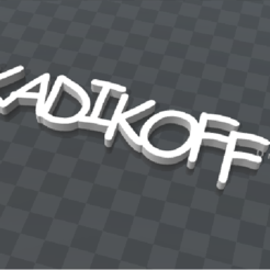Download free 3D printing templates customizable key holder KADIKOFF, Ibarakel