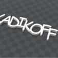 Télécharger objet 3D gratuit porte clef personnalisable  KADIKOFF, Ibarakel