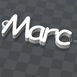 Free 3d printer files PERSONALIZABLE KEYCHAIN ​​Marc, Ibarakel